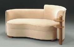 A ROSEWOOD CHAISE LONGUE  JULES LELEU FOR THE FIRST CLASS SUITES ON THE S.S. NORMANDIE, CIRCA 1935