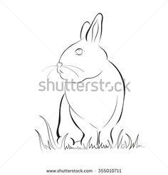 Rabbit  vector stock image - stock vector