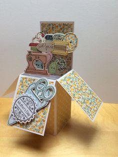 Pop up box card using craftwork cards Fab Fabrics
