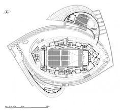 CONTENU12---199706-LUXEMBOURG_PlanN3 Memorial Architecture, Cultural Architecture, Architecture Plan, Architecture Concept Drawings, Architecture Portfolio, Auditorium Plan, Christian De Portzamparc, Diagram Design, Arch Model