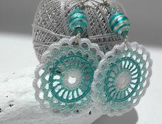 Pendientes de crochetganchillo Pendientes largos por lindapaula