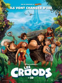 Les Croods de Chris Sanders et Kirk De Micco, 2013 Disney Cinema, Film Disney, Disney Movies, Film Movie, Film D'animation, Good Animated Movies, Animated Movie Posters, Scary Movies, Great Movies