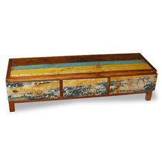 3 Drawers Horizontal made from reclaimed boat timber. Nautical, recycled, reclaimed, boatwood, boat furniture.