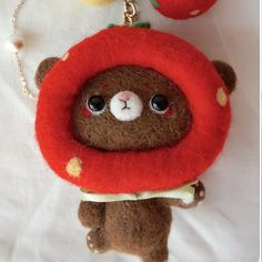 Handmade needle felted felting cute animal project bear bunny toys   Feltify