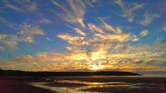Sunset at harlyn bay. Cornwall.