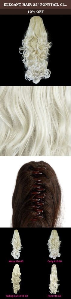 """ELEGANT HAIR 22"""" PONYTAIL Clip in Hair Piece CURLY Platinum Blonde #16/60 REVERSIBLE Claw Clip 250g. Product Information: Looks and feels just like human Hair. This is becoming the most popular hair extension available. Wear it from the gym to work a 5 star restaurant or on the catwalk. Wear them high, low or on the side, braid, bun or try them worn to the side, or simply create your own style latest fish plait style. Product Specification: Colour: Platinum Blonde #16/60 Hair Type: Clip…"""
