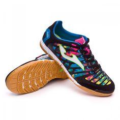 Resultado de imagem para sapatilhas joma futsal super regate black/multicolor