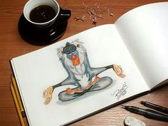 Rafiki - The Lion King (Draw)