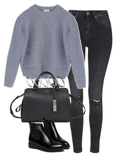 """""""Untitled #3558"""" by keliseblog ❤ liked on Polyvore featuring Topshop, Acne Studios, Calvin Klein and ASOS"""