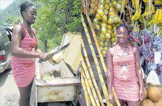 Fruit vendor in Jamaica