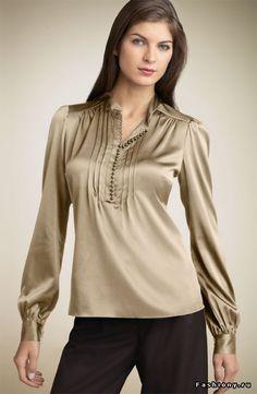 Женская блузка - сексуальность и строгость в одном / фасоны блузок