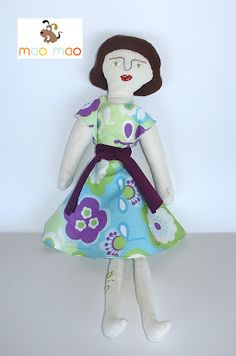 Bee Doll, a version from a free pattern by Mimi Kirchner