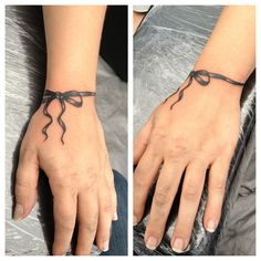 Ribbon wrist tattoo done by bob price at inferno studios