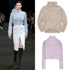 Top to Bottom: Crème Cowl Neck Sweater, WILFRED (Available at Aritzia), $165; Pink Turtle Neck Sweater, ACNE STUDIOS (Available at Mytheresa.com), $900   - Cosmopolitan.com