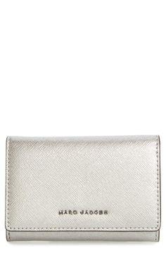 Women's Marc Jacobs Metallic Leather Wallet - Grey