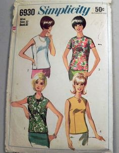 1960s Blouse or Top  with back buttons by retroactivefuture, $7.00