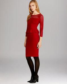 Karen Millen Red Mesh Knitted Bandage Bodycon Sweater Jumper Party Dress 10  38  KarenMillen   48a093ed9