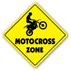 MOTOCROSS ZONE - Sign - dirt bike supercross cycle gear i wanna get this and hang it on my door. Dirt Bike Party, Dirt Bike Room, Motorcycle Party, Motorcycle Camping, Camping Gear, Dirt Bike Cakes, Bike Birthday Parties, Dirt Bike Birthday, Motocross Birthday Party