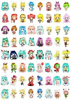 Chibi Vocaloid! My favorite is SeeU . #Vocaloid #HatsuneMiku #SeeU