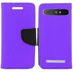 Insten Premium PU Leather Flip Wallet Phone Cover Case With Card Slot For ZTE Warp Sync N9515 #1946759