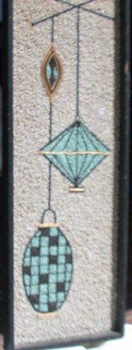 I think i can make something like this. Gravel Art Wall Hanging -- Celebrates Iconic Mid-Century Modern Lighting