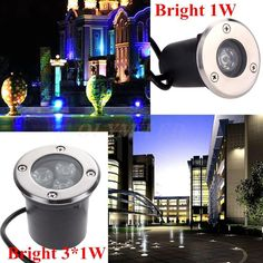 Led Underwater Lights 2019 New Style Led Waterproof 1w 3w 5w Led Underground Light Ground Garden Path Floor Lamp Outdoor Underground Buried Yard Lamp Landscape Light As Effectively As A Fairy Does Led Lamps