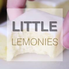 "Lemonies The most amazing little lemon ""brownies"" - these little lemonies are soft and a little chewy with bright, delicious lemon flavor!Little Little is a synonym for small size and may refer to: Lemon Desserts, Lemon Recipes, Sweet Recipes, Baking Recipes, Delicious Desserts, Cake Recipes, Dessert Recipes, Yummy Food, Desserts Keto"