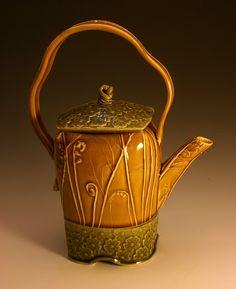 Slip trailed teapot