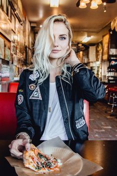 Bomber jacket with patches : Stitch and Feather