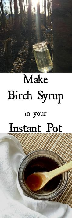 Did you decide to tap birch trees and now you're trying to figure out what to do with all that sap? Did you know you can Make Birch Syrup in your Instant Pot? Yes you can make small batches of syrup in your Instant Pot. Instant Pot Pressure Cooker, Pressure Cooker Recipes, Pressure Cooking, Canning Syrup, Best Instant Pot Recipe, Wild Edibles, Survival Food, Preserving Food, Birch Trees