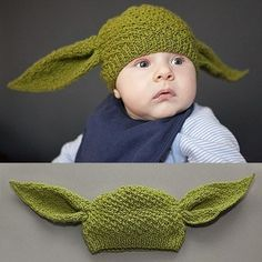 Yoda baby hat...for my nephew..he can match his dog-brother Chewy and dog -sister Princess Leia