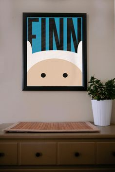 Adventure Time / Finn / Poster. $18.00, via Etsy.