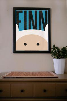 Adventure Time / Finn / Poster. $18.00, via Etsy.