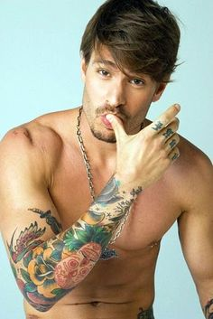 typically not my type, but there's something about him that is so hot  Hot Guy with Tattoos  #men #ink