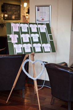 Table seating plan idea from Hannah and James' Beaufield Mews wedding