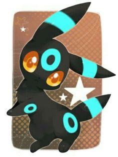 Shiny Umbreon, cute, chibi; Pokémon