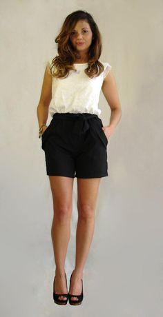 One Piece B & W Lace Shorts www.meunique.gr