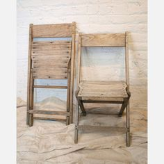 old chairs in modern room. love.