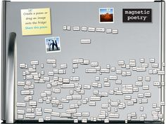 drag and drop HTML5 Magnetic Poetry