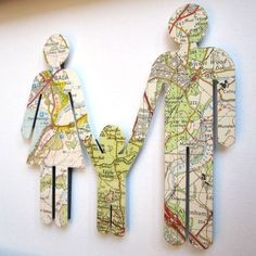 Cute gift idea. Maps of where they're from