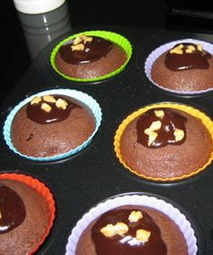 Muffin with coffee and almond