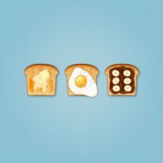 How to Create Delicious Toast Icons in Adobe Illustrator - Envato Tuts+ Design &. - How to Create Delicious Toast Icons in Adobe Illustrator – Envato Tuts+ Design & Illustration Tut - Graphic Design Illustration, Digital Illustration, Flat Illustration, Adobe Illustrator Tutorials, Graphic Design Tutorials, Food Illustrations, Icon Design, Brand Design, Flat Design