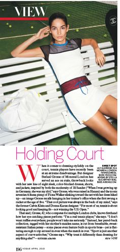 The gorgeous Lily Aldridge wears Monreal London in the April edition of Vogue magazine.