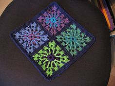 Ravelry: Double Treble Burst Square inches) - Crochetville pattern by Amelia Beebe - free Crochet Squares Afghan, Crochet Motifs, Crochet Blocks, Crochet Stitches Patterns, Crochet Granny, Granny Squares, Knit Or Crochet, Crochet Crafts, Crochet Projects