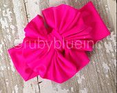 Fuchsia Messy Bow Headwrap