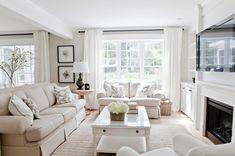 White linen living room