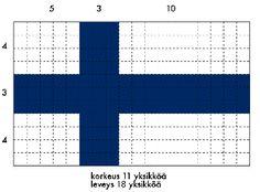 Suomen lipun mittasuhteet ja väri