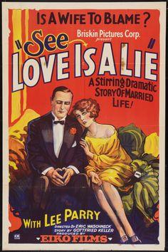1927 - LOVE IS A LIE - Erich Waschneck