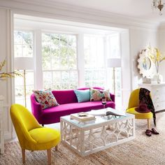 70 Fantastic Summer Living Room Decor Ideas – Home Design Living Room Decor Colors, Colourful Living Room, Room Colors, Living Room Designs, Wall Colors, Room Color Schemes, Woman Bedroom, Midcentury Modern, Living Room Furniture