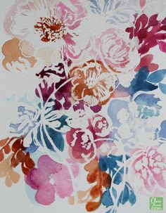 Clare Makes watercolour & masking fluid florals | www.claretherese.com